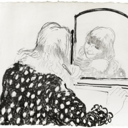 Ann Combing Her Hair