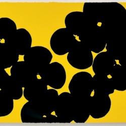 Wallflowers, Black on Yellow