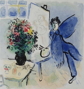 MARC CHAGALL - L'atelier Bleu, The Blue Studio | WAS: R 299,000.00 | NOW: R 268,000.00 incl.