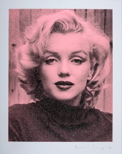 Marilyn Hollywood - Black on Pink