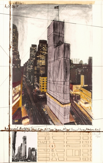 Wrapped Building, Project for #1 Times Square, Allied Chemical Tower, New York City