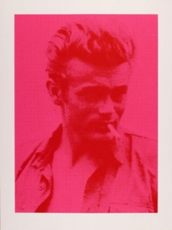 James Dean - Red on Pink